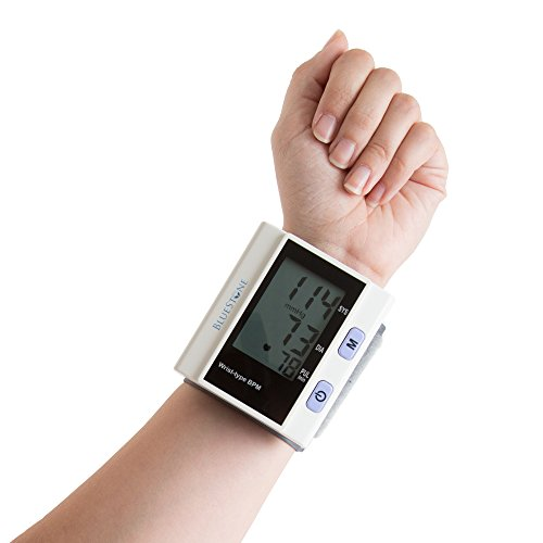 Automatic Wrist Blood Pressure Monitor with Digital LCD Display Screen- Fast BP and Pulse Monitoring and Adjustable Wrist Cuff by Bluestone (Prevention Monitor Blood Wrist Pressure)