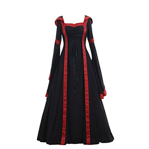 Plus Size Medieval Dress (CosplayDiy Women's Maria Olive Red&Black Victorian Dress Costume XL)