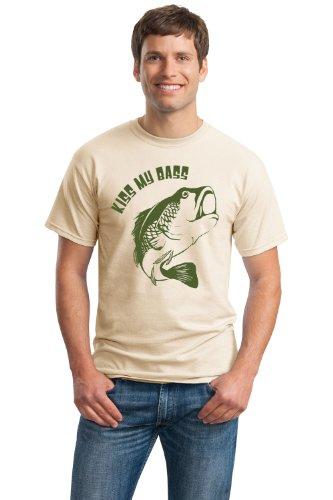 KISS MY BASS! Unisex T-shirt / Funny Fishing Joke Fisherman Humor Shirt