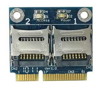 Amazon com: MR15 (Dual Micro SD Cards to Mini PCIe adapter