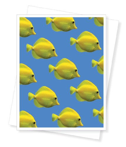 Yellow Tropical Fish, Blank Note Cards - Set of 10 Greeting ()