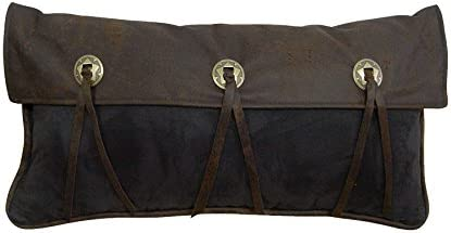 HiEnd Accents 3 Star Concho Western Pillow, 11 by 21-Inch, Chocolate Black