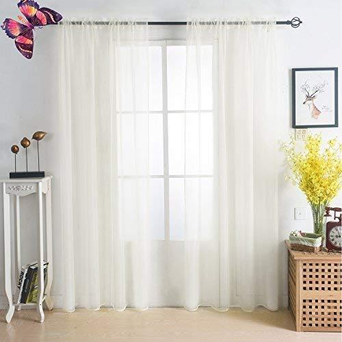Sleeping Cloud 2 Piece Rod Pocket Drapes Beautiful Sheer Window Elegance Curtains/Panels/Treatment 54