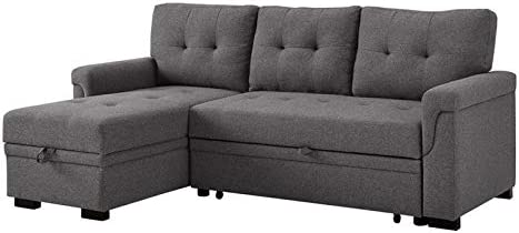 BOWERY HILL Reversible/Sectional Sleeper Sofa