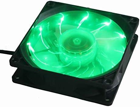 1Pcs Gdstime Green 15 LED Light Quite 90mm DC 12V 3Pin PC Computer Case Cooling Cooler Fan Mod