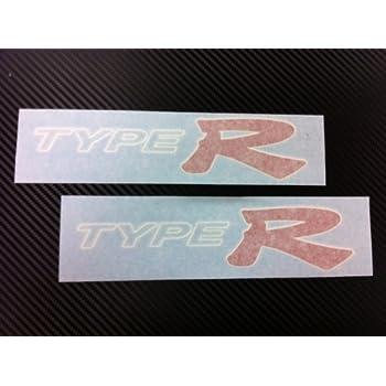 White Background + Silver Letter Demupai Decal Integra Type R Sticker for Honda DC2