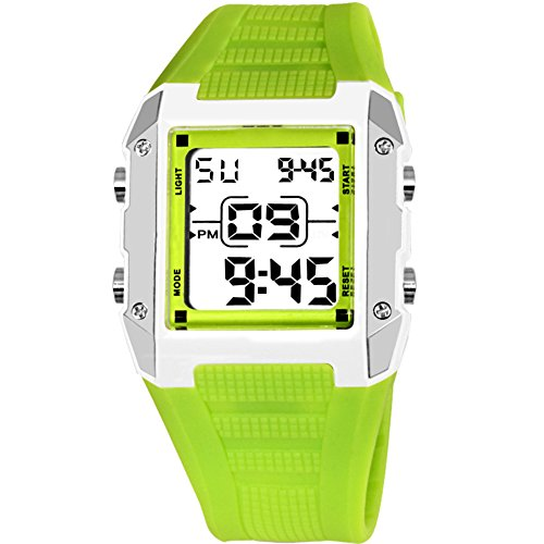 Candy Alarm Chronograph Watch - Children watch waterproof night light alarm clock electronic table candy color-D