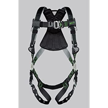 Black//Gry Unversal HONEYWELL MILLER RDT-QC-DP//UBK Full Body Harness 400lb