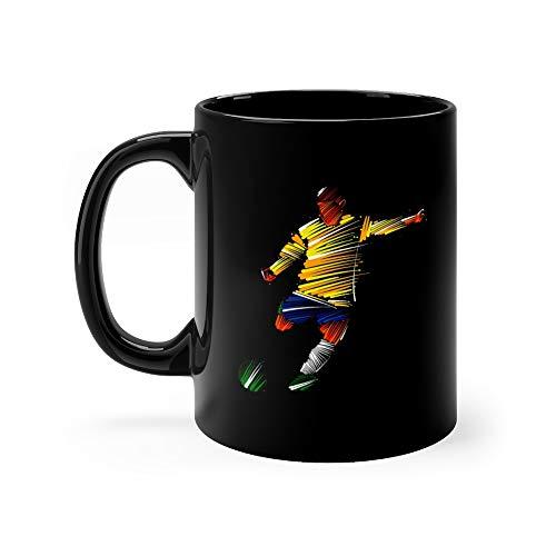 (Soccer Player Kicking The Ball Footballer Funny Mugs Cups Ceramic 11)