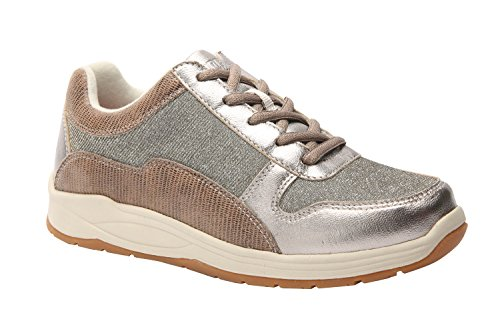 Drew Shoe Tuscany Women's Therapeutic Diabetic Extra Depth Shoe: Pewter/Calf 11 X-Wide (2E) Lace