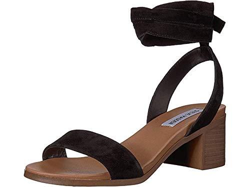 Steve Madden Adrianne Women's Sandal, Black Suede, Size 7.5