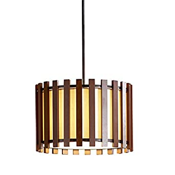Allen roth 1775 in w pecan standard pendant light with fabric allen roth 1775 in w pecan standard pendant light with fabric shade aloadofball Choice Image