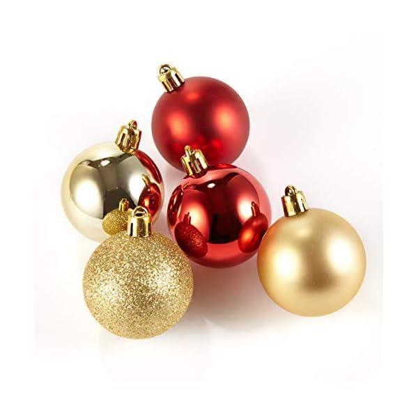 HEITMANN DECO Krebs & Sohn Set di 30 Palline di Natale in Vetro - Albero di Natale Deco Appeso - Palle di Natale - Rosso Oro 4 spesavip