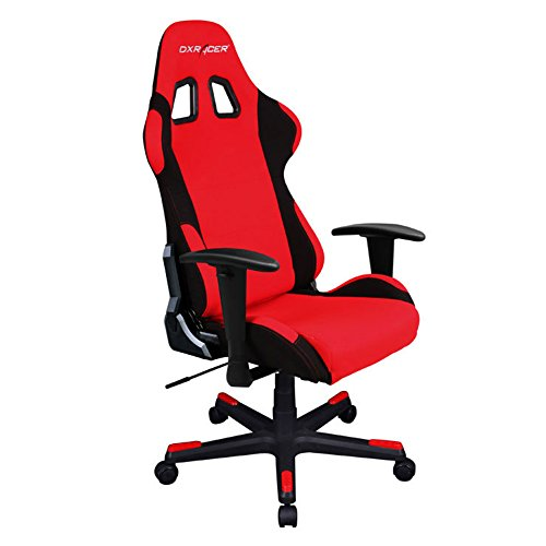 41YbI3bdwjL - DXRacer-FD01RN-Red-Black-Racing-Bucket-Seat-Office-Chair-Gaming-Ergonomic-with-Lumbar-Support