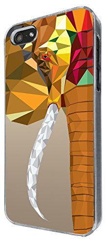 284 - Geometric Aztec Elphant Face Design iphone 5 5S Coque Fashion Trend Case Coque Protection Cover plastique et métal