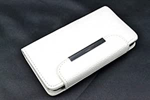 coverstop® Flip Carcasa Flipcover blanco Billetera Cartera sintética Full funda para Asus Zenfone 2ZE500ZE500CL
