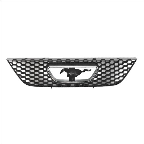 CarPartsDepot, Front Grille Grill Matte Black w/Bright Frame Assembly No Bullitt Edition, 400-181074 FO1200357 XR3Z8200AA?