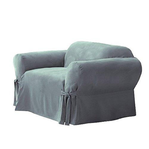 1-Piece  - Chair Slipcover  - Smoke Blue (SF34533) ()