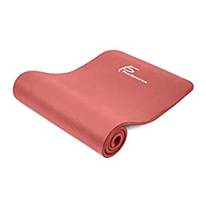 "Prosource Premium Extra Thick Yoga and Pilates Mat 1/2"", Red"