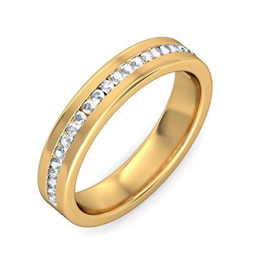 Or jaune 18K, 0,18carat Diamant Blanc (IJ | SI) en diamant