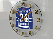 FanPlastic Auston Matthews 34 Toronto 'GO Leafs GO' Wall Clock - Canadian Hockey League Legends Ed