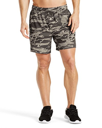 "Mission Men's VaporActive Fusion 7"" Athletic Shorts, Matrix Camo Moonless Night, XX-Large"