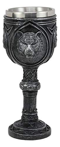 Ceremonial Statue - Ebros Brazen Eye Of The Tiger Wine Goblet 7.5