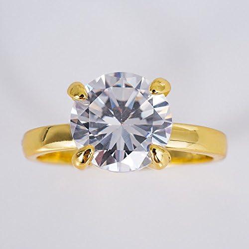 Chic 14K White Gold Plated White Sapphire Ring Wedding Women Jewelry New Sz 6-10