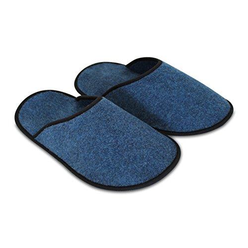 Paar Unisex klein 10 Filz AG Blau OLShop Überziehschuhe Museumspantoffeln qIpwB5v