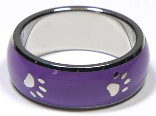 Joyful Sentiments Purple Paw Print Ring