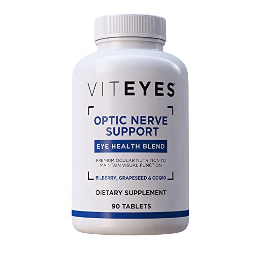 VITEYES Optic Nerve Support Supplement, Promotes Eye Health and Protects Vision, 90 Count - Single Daily Dose Eye Vitamin (Best Vitamins For Nerves)