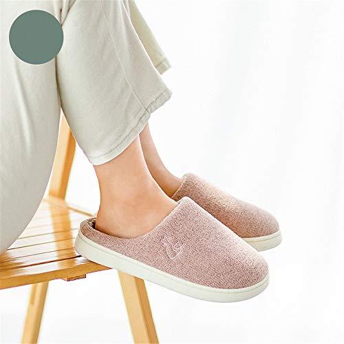 scarpe YMFIE antiscivolo amanti caloroso e scarpe cotone casa Autunno comodo di caldo cotone inverno C di coperta pantofole wFCw68