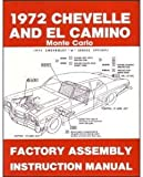 1972 Chevelle El Camino Monte Carlo Assembly Manual (with Decal)