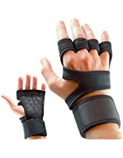 U-HOOEM Weight Lifting Gloves with Built-In Wrist Wraps, Full Palm Protection & Extra Grip. Great for Pull Ups, Cross Training, Fitness, WODs & Weightlifting. Suits Men & Women