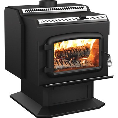 Drolet High-Efficiency Wood Stove - 95,000 BTU, Model# HT2000 (Gas Ratings Fire Efficiency)