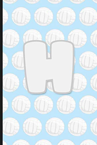 H: Vollyball Monogram Initial Letter H Notebook | 6