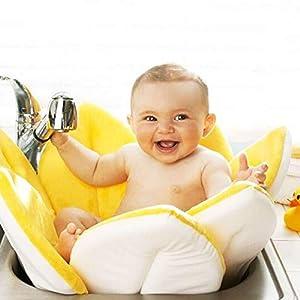 Baby Bath Flower Support Lounger Sink Bathtub Cushion Pad for Newborn Christening, Birthday Party Towelling Safety (0-6…