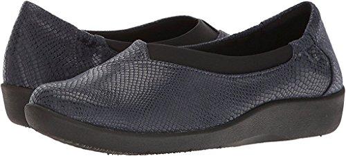 CLARKS Womens Sillian Jetay Closed Toe Loafers, Blue, Size 7.0 by CLARKS