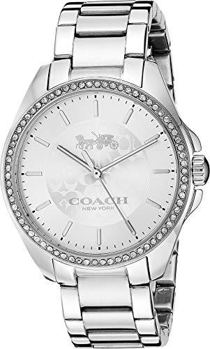 COACH Women's Tristen Silver 2 One Size (Womens Coach Watches Silver)