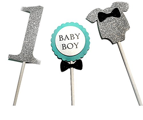 Owmoon 1st First Birthday Cake Topper Decoration for Baby Girl Boy Party Supplies