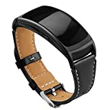 OenFoto Compatible with Gear Fit2 Pro/ Fit2 Leather Band, Replacement Accessories Strap for Samsung Gear Fit 2 Pro SM-R365/ Gear Fit2 SM-R360 Smartwatch