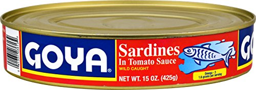 Goya Foods Sardines in Tomato Sauce, 15-Ounce (Pack of 24)