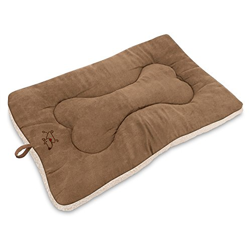 Best Pet Supplies MT860Z-XS Pet Crate Mat, Light Brown Suede For Sale