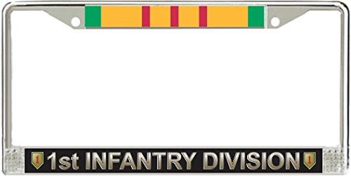 MilitaryBest 1st Infantry Division Vietnam Veteran Service Ribbon License Plate ()