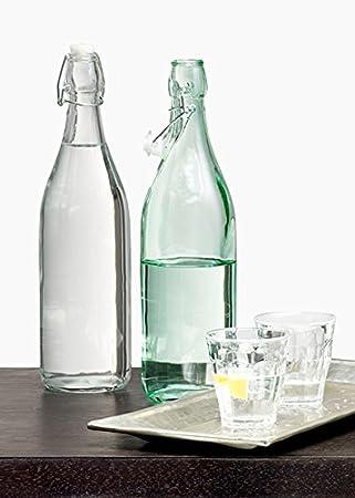 Botellas de Agua de cristal con bola de alambre, juego de 2: Amazon.es: Hogar