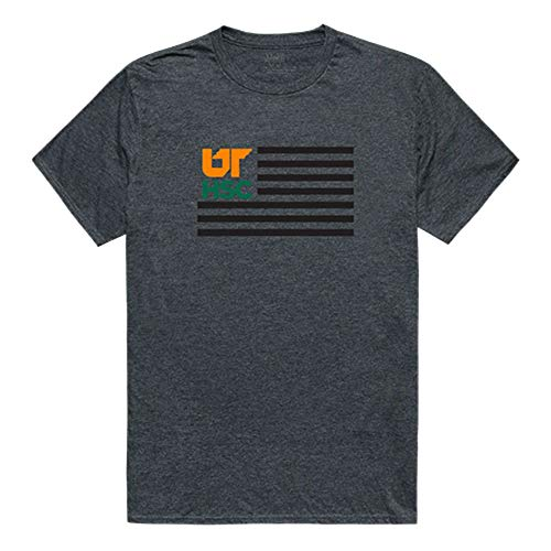 - University of Tennessee Health Science Center NCAA Flag Tee T-Shirt Heather Charcoal Large