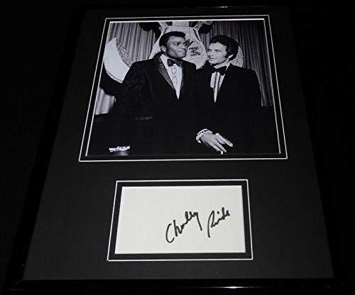 Charley Pride Signed Framed 11x14 Photo Display