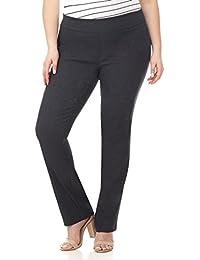 Curvy Woman Plus Size Modern Straight Leg Pant w/Tummy...