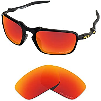 Tintart Performance Replacement Lenses for Oakley Badman Sunglass Polarized  Etched-Fire Red 11c38a3209