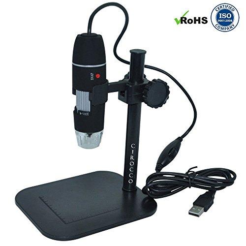 USB Microscope Magnifier Digital Zoom 2MP 500X Black - 4